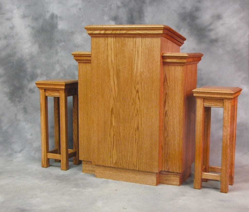 oak solid wood pulpit