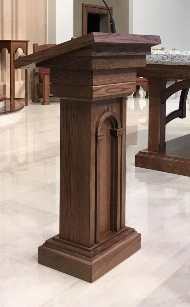 Lectern_St. Angela Merci Catholic Chur5ch, Missouri City, TX