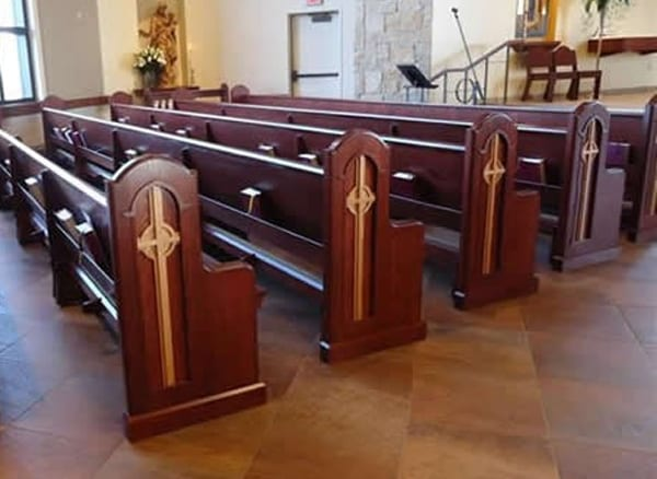 Straight Pew Bench