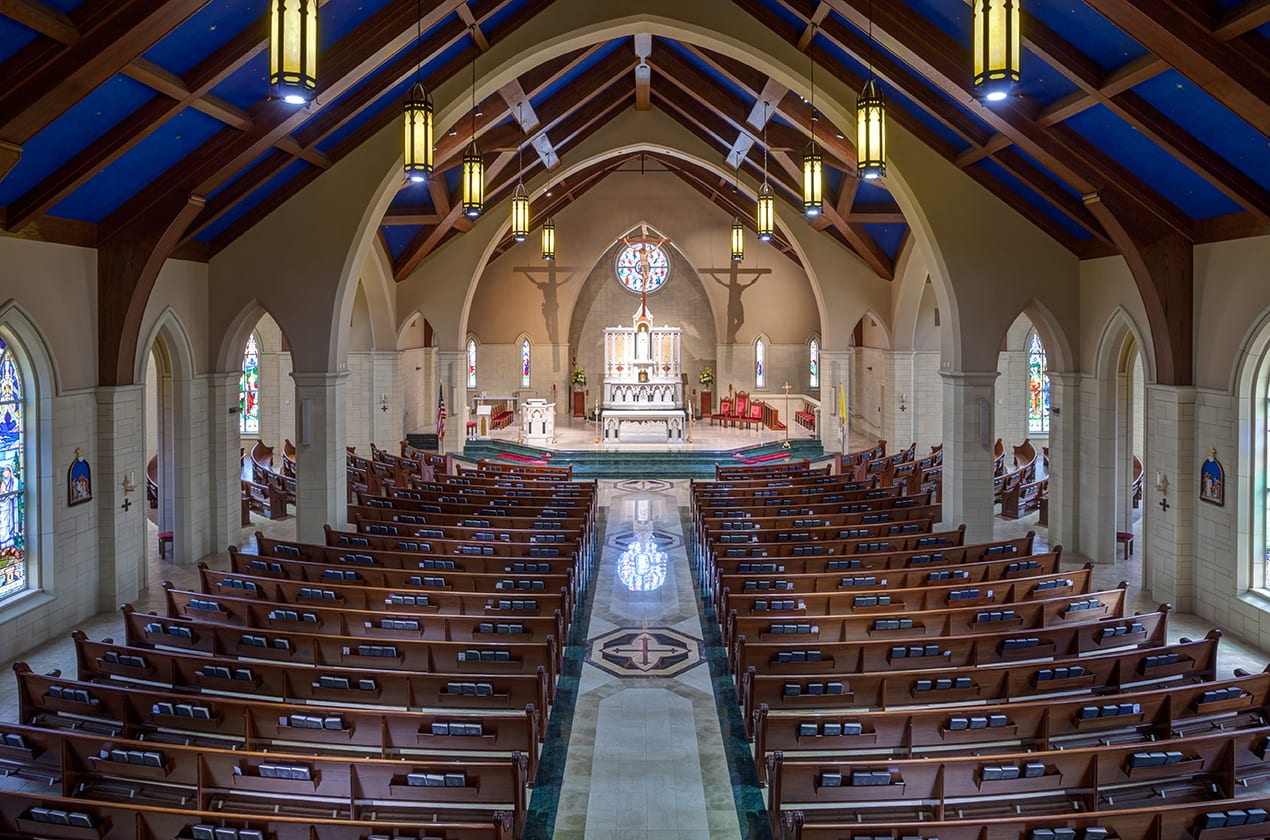 Wide view of church from the gallery