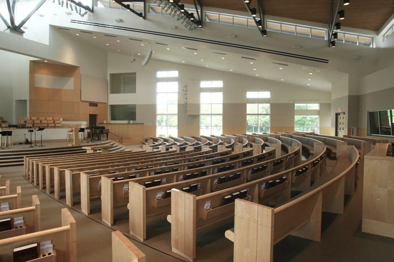 Maple Radius Curved Pews