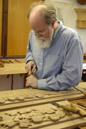 Carver Hand Carving Leaf Design