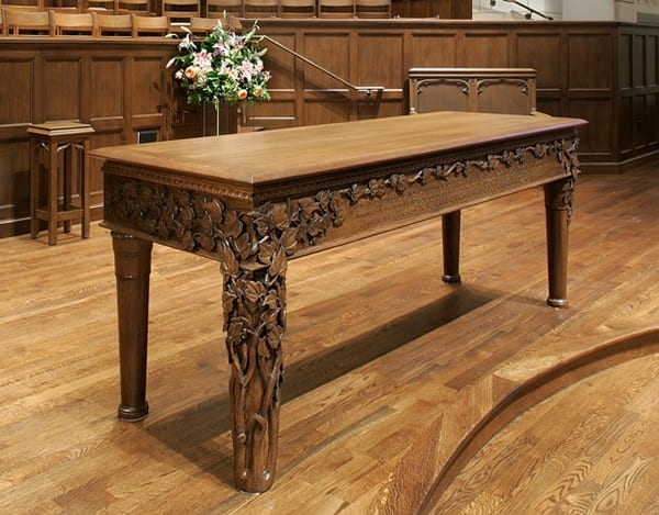 Hand Carved Communion Table