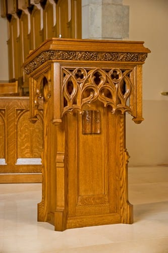 Lectern New Base to Existing Carved Bookrest