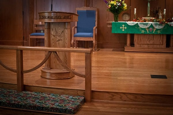 lectern with clergy chair