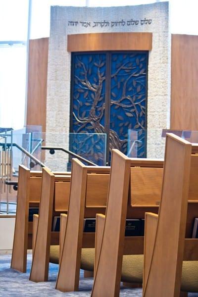 Custom Cedar of Lebanon Seating Facing the Ark