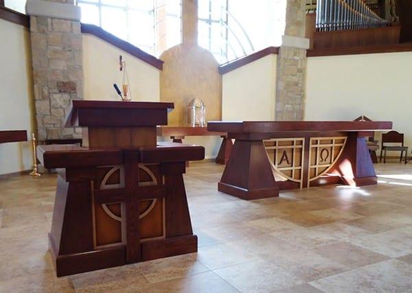 Custom Ambo and Altar